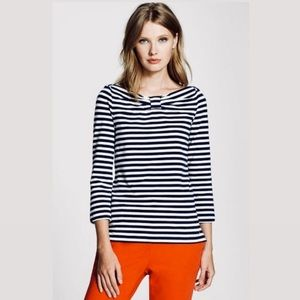 Kate Spade ♠️ Wheaton Black n White Striped Shirt